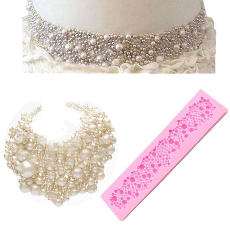 Molde de silicona Borde de perlas