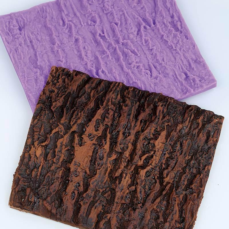 Grand Tapis de texture écorce d'arbre
