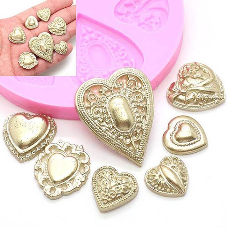 Moule coeurs bijoux en silicone