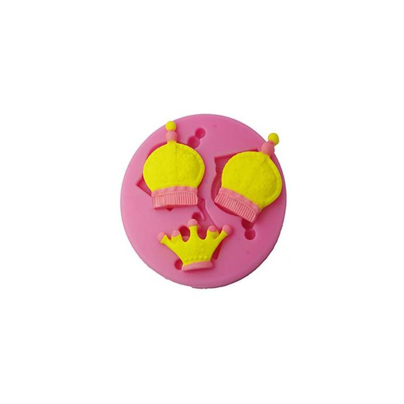 Moule en silicone Couronne Roi et Princesse en 3D
