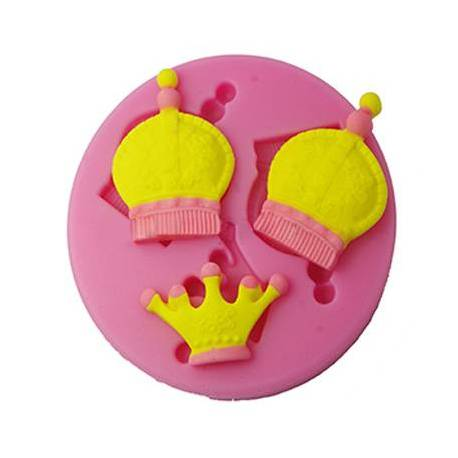 Silicone mold Crown King 3D and Princess