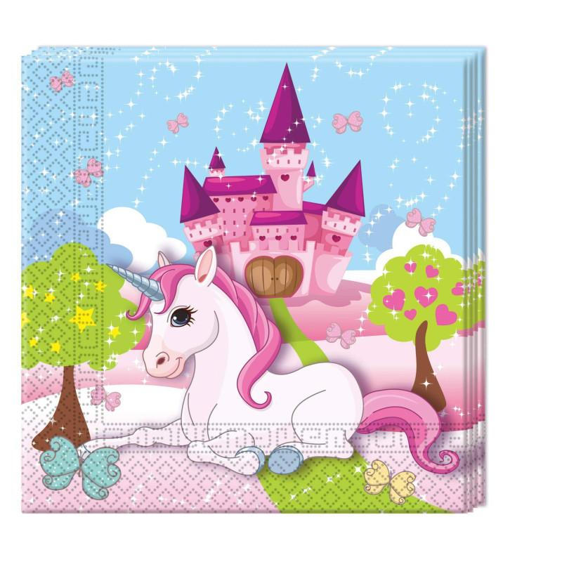 20 Servilletas unicornio