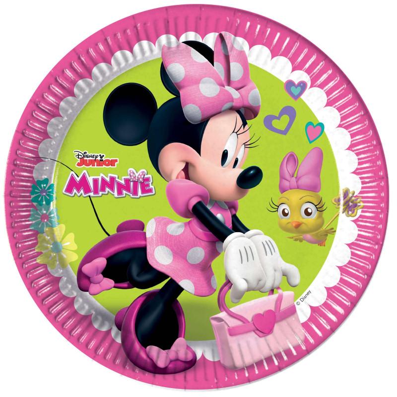 8 MINNIE HAPPY plates