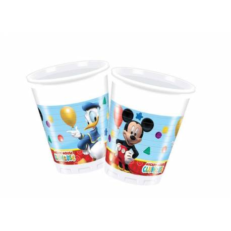 8 Vasos de Plastico Mickey