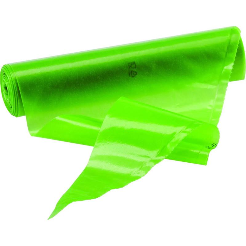 100 poches à douilles jetables verte anti glisse 55cm