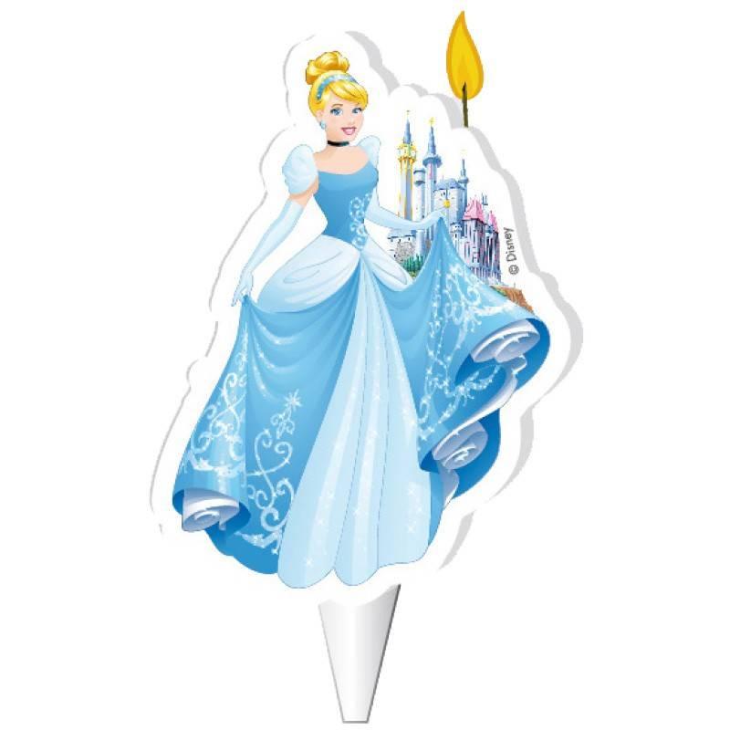 Vela Princesa Cenicienta en 2D de 7,5cm