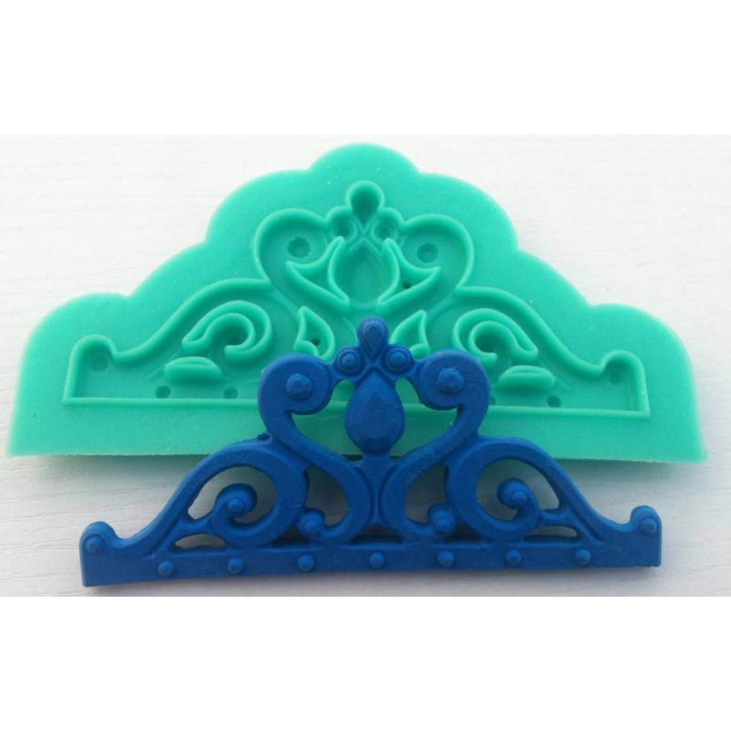 Corona princesa moldeada en silicona - 12cm