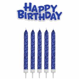 16 candles blue and his HAPPY BIRTHDAY candle topper