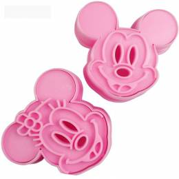 Cookie cutter with imprint Mickey and Minnie