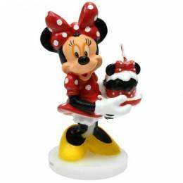 Minnie Candle sosteniendo un regalo