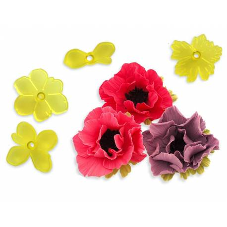 Set 4 Cutters for ANEMONE flower