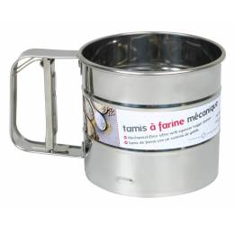 Mechanical stainless steel flour sifter