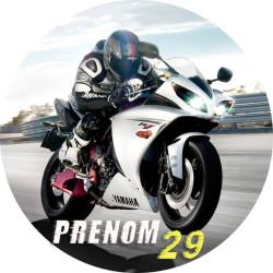 """Impression alimentaire personnalisé  """"MOTO de COURSE Yamaha"""""""