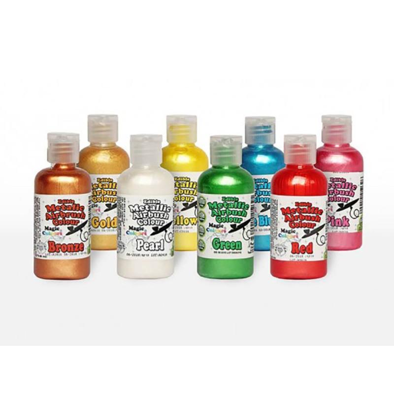 Colorantes METÁLICOS para AERÓGRAFO Magic Colours 55ml