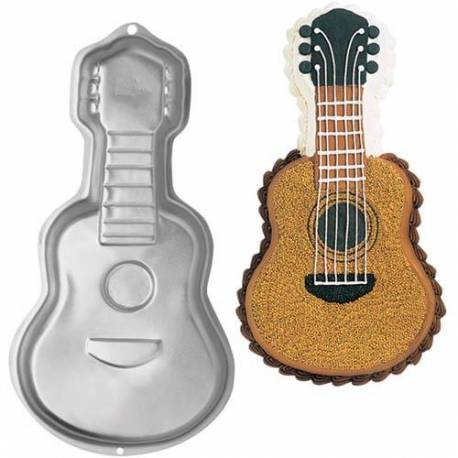 WILTON cake pan in the shape of a guitar