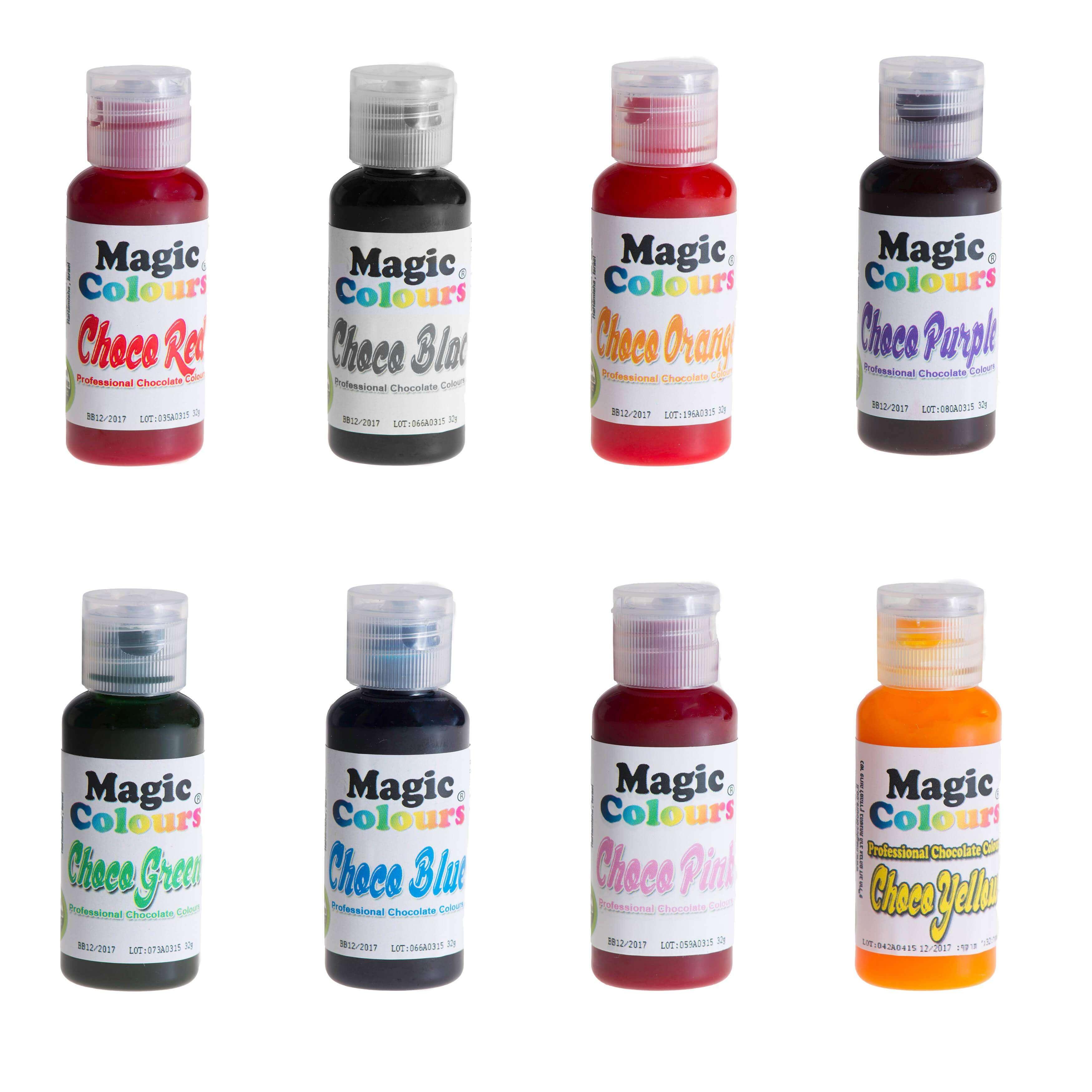 colorants liposolubles pour chocolat magic colours 32g cake design. Black Bedroom Furniture Sets. Home Design Ideas