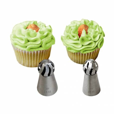 Set of 2 Twist Globe JEM piping Tips - 10T and 11T