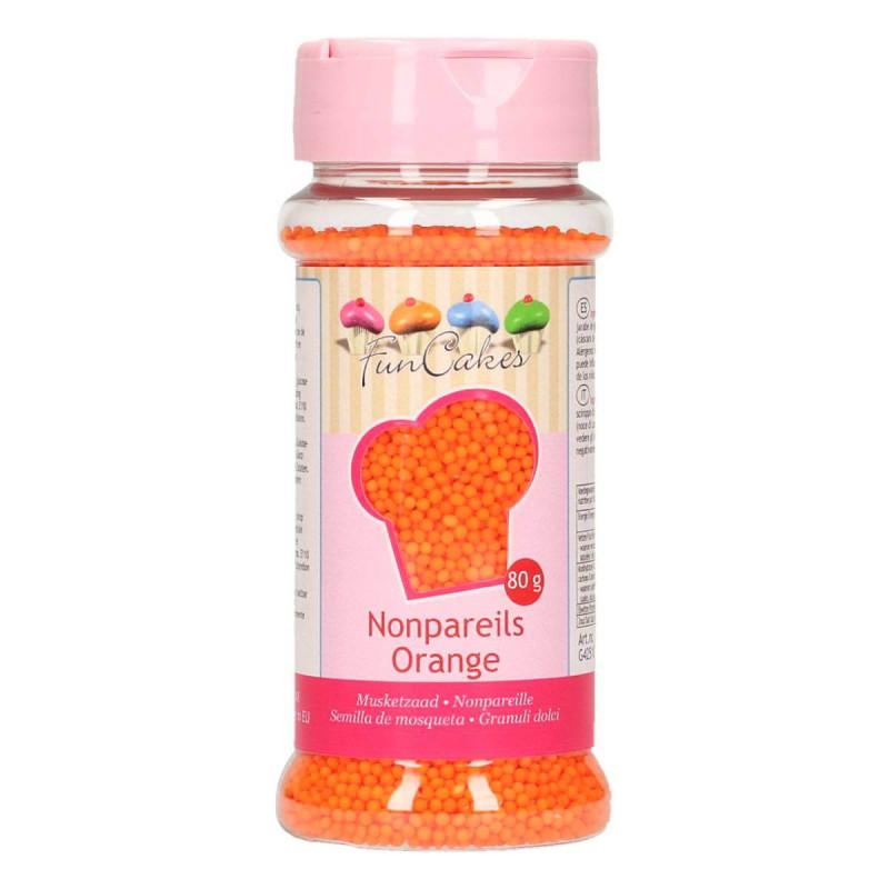 Micro billes en sucre Orange 80 g