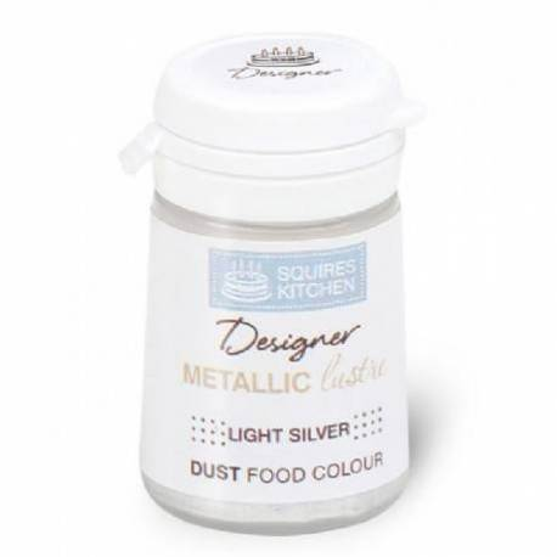 Metallic Gloss Powder Colouring LIGHT SILVER - 4 g