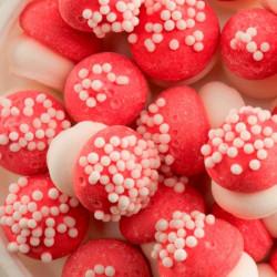 Hongos rojos pequeños en azúcar 80 G