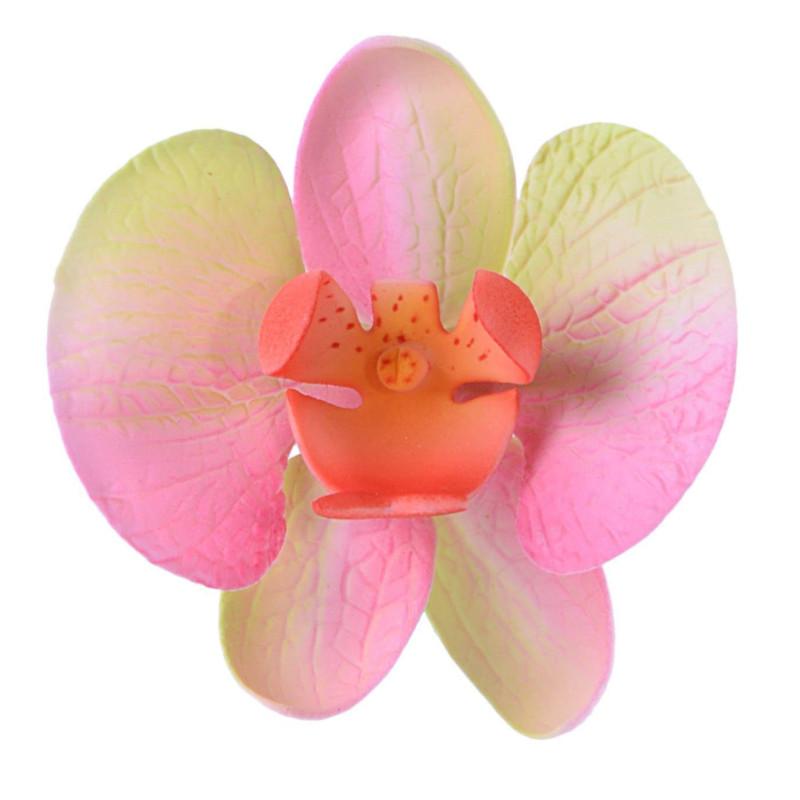 Orchidée ROSE et JAUNE en sucre sur fil