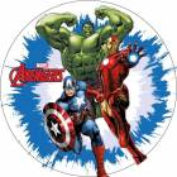 Disque azyme Hulk, Iron Man et Captain America Avengers
