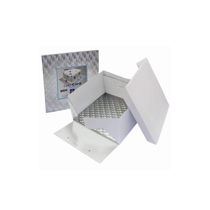 Caja con base cuadrada fina para presentación 22.5 cm