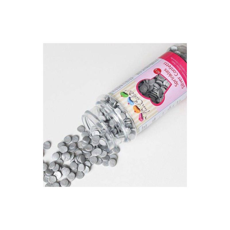 Confeti en Pastelitos de Azucar de Plata 60g