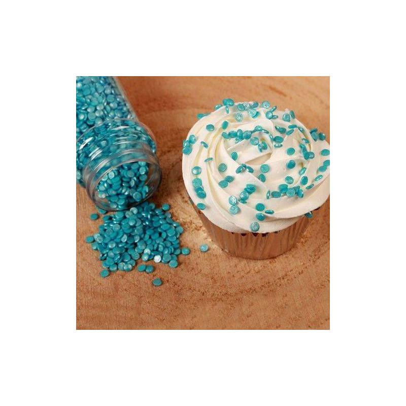 Confeti en Pastelitos Metálicos Azules 70g