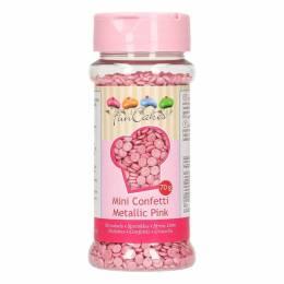 Confetti en azúcar ROSE Metallic Fun Cakes 70g