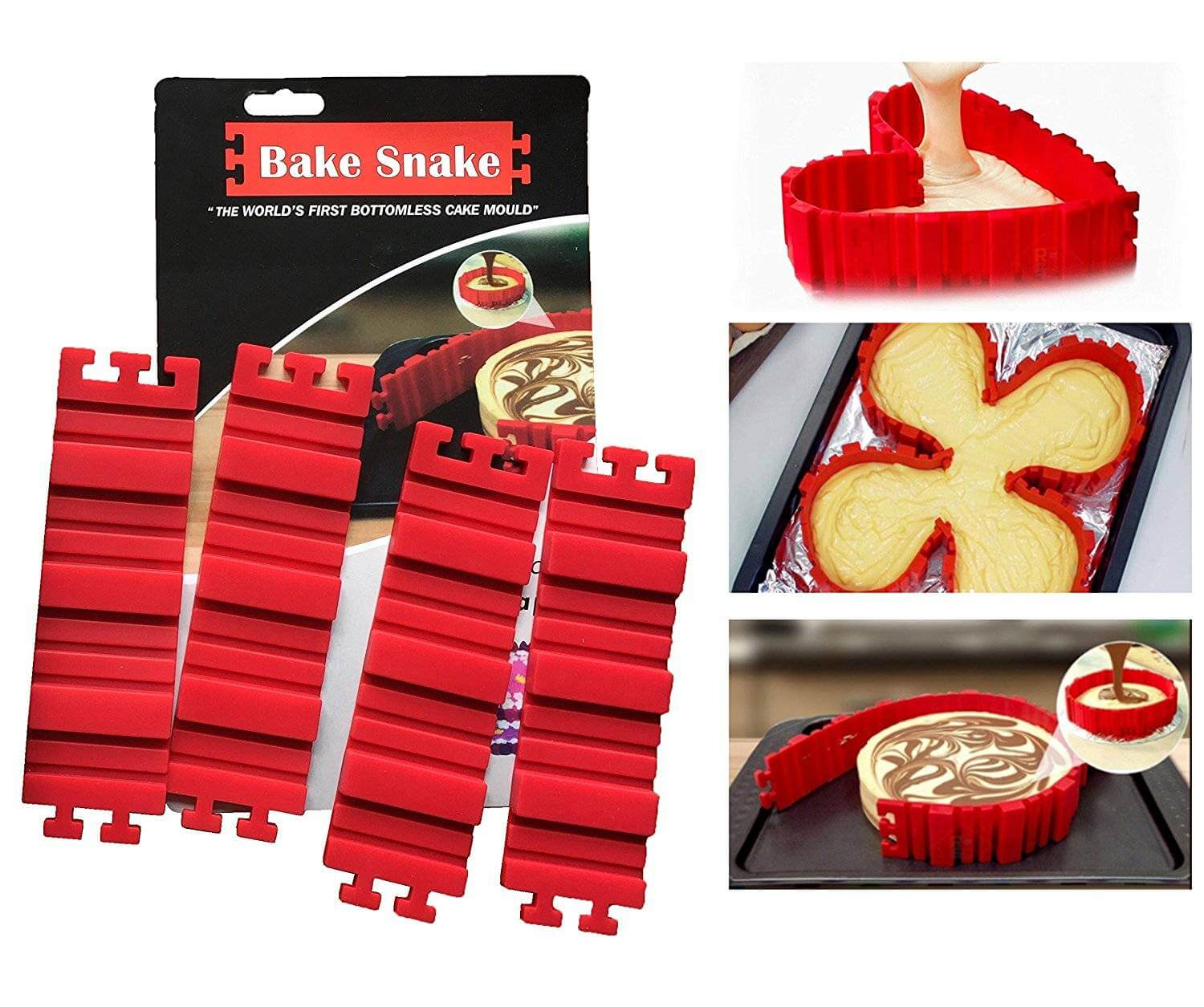 Silicone baking pan IN ANY FORM - Bake Snakes - Planète Gateau