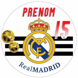 "Impression alimentaire personnalisée ""REAL MADRID"""