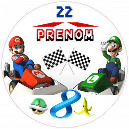 "Personalized edible printing ""MARIO KART"""
