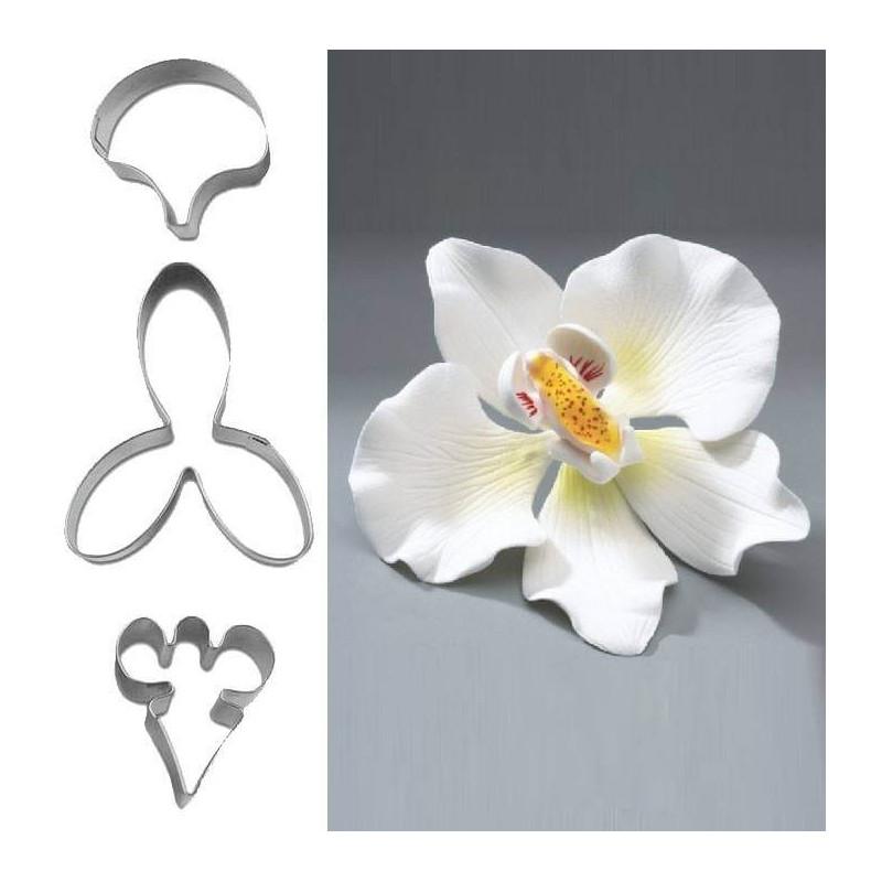 Emportes pièces fleur Orchidée - 3 formes