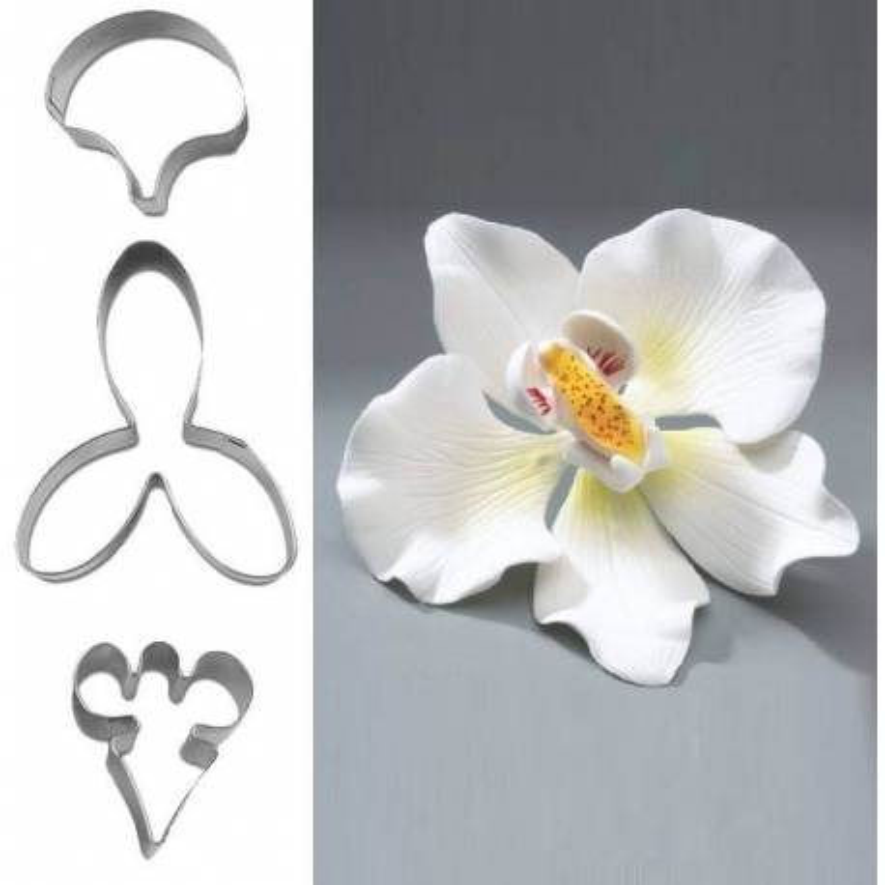 Set of 3 flower cutter Orchid