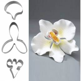 Set of 3 away pieces flower Orchid
