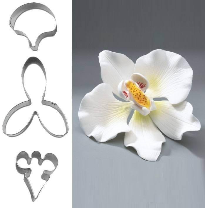 Préférence Set de 3 emportes pièces fleur Orchidée Cake design et patisserie KI21