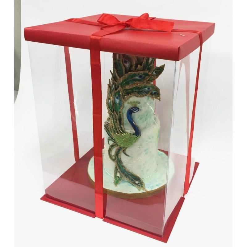 Caja de tarta Expo Cake Box Rojo (30x30x40cm)