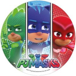 Disco desatado PYJAMASQUES- 3 caras de héroe
