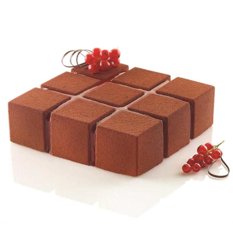 Molde de torta de silicona Silikomart CUBIK cadrado