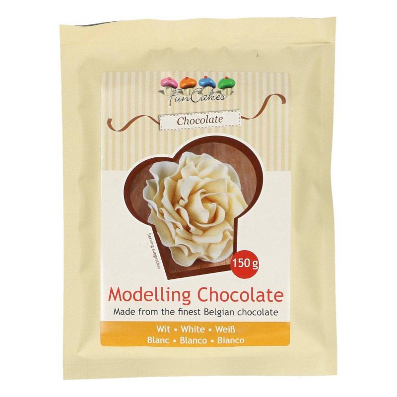 Chocolate paste WHITE to model 150g
