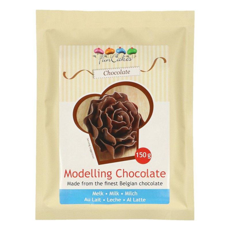Pâte à chocolat au lait pour modelage 150g