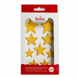 9 Golden sugar stars