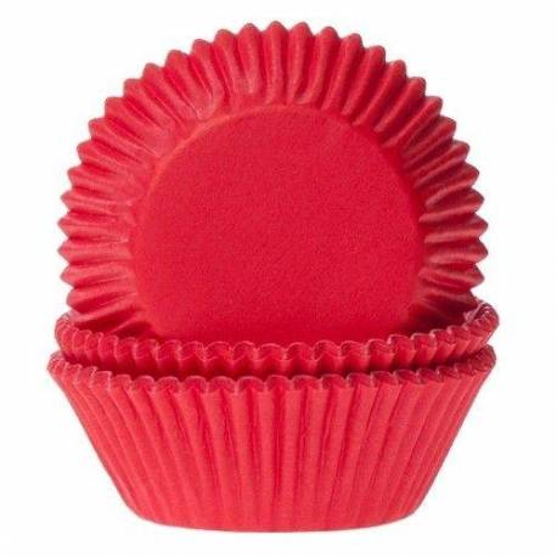 50 Caissettes Cupcakes ROUGE