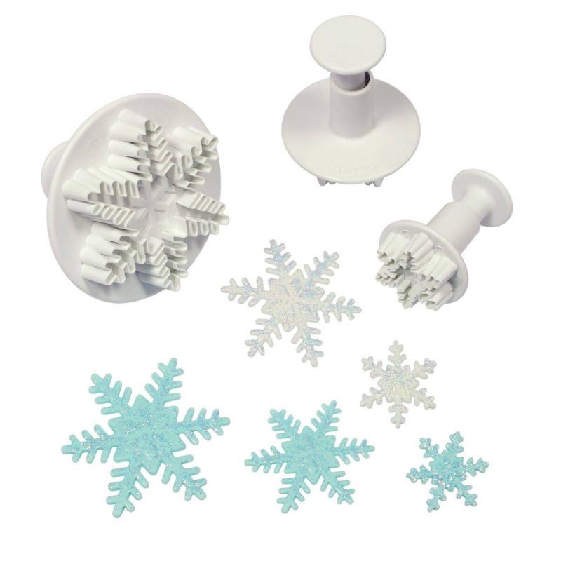 Set de 3 mini emporte pièces Flocons de Neige