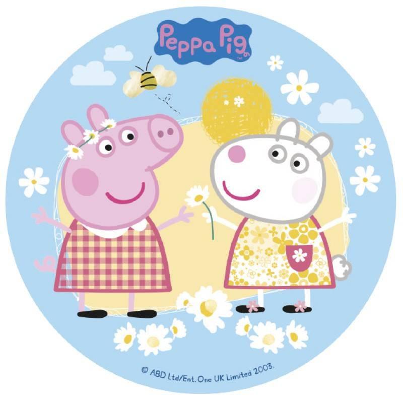 Disco de azúcar Peppa Pig 16 cm