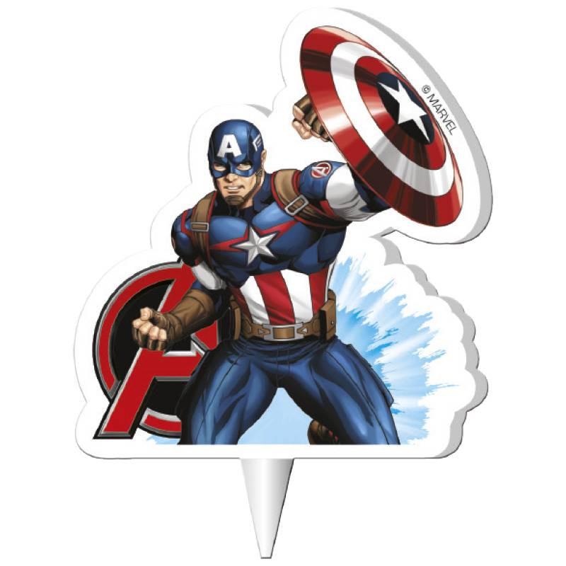 Bougie Captain America 2D