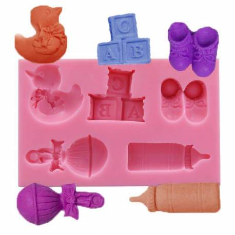 Silicone mould for baby and nursery objects