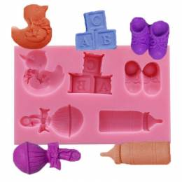 Mold silicone object baby and nursery
