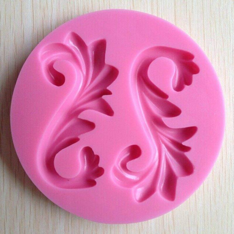 Molde de arabesco de adorno de silicona